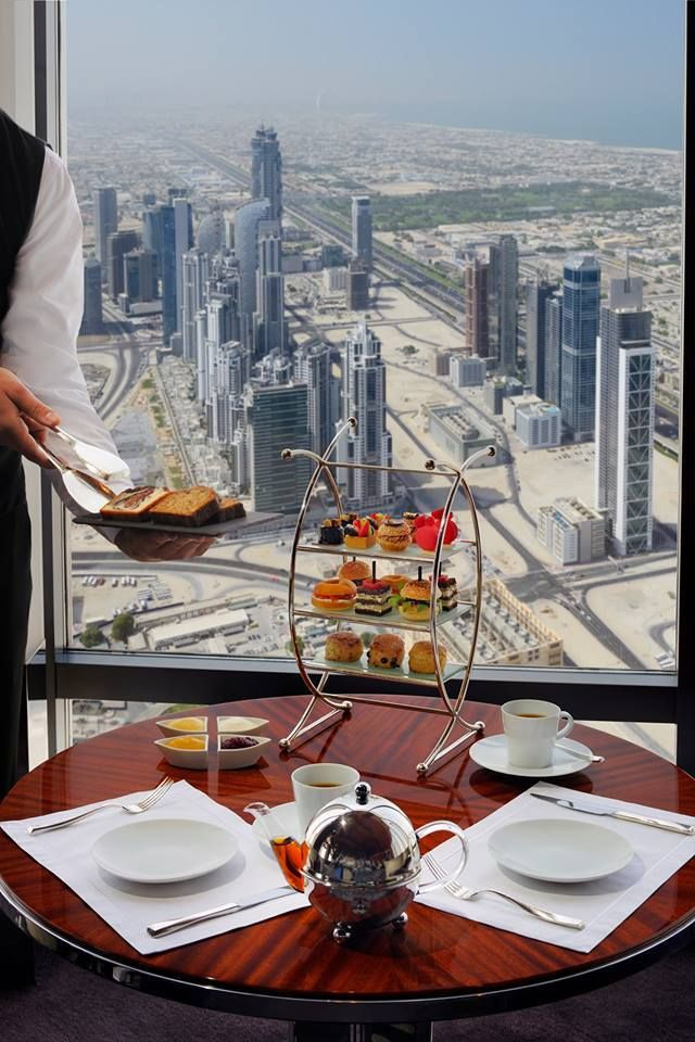 World record to this highest from the ground level restaurant in Dubai. Atmosphere at level 122 in Burj Khalifa is not to be missed.