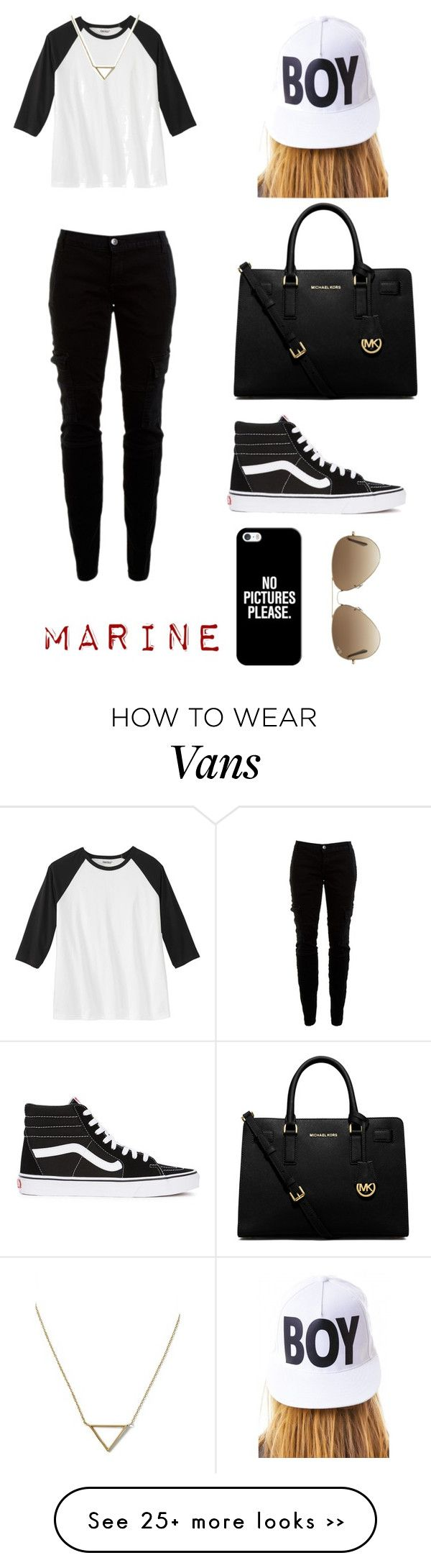 """""""Sans titre #63"""" by nailup on Polyvore featuring Joie, MICHAEL Michael Kors, Vans, Casetify, Ray-Ban, BOY London and Banana Republic https://twitter.com/faefmgaifnae/status/895102947775750144"""