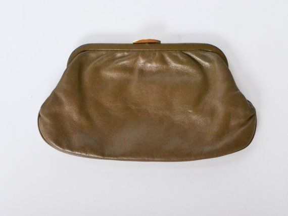 Vintage 1980s Brown Clutch Bag Grannies Clutch by founditinatlanta, $12.00
