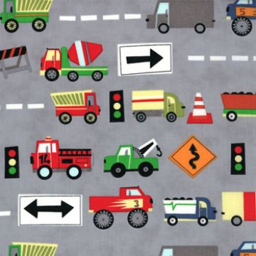 Construction Trucks Fabric $7.50 #modafabrics #trucks