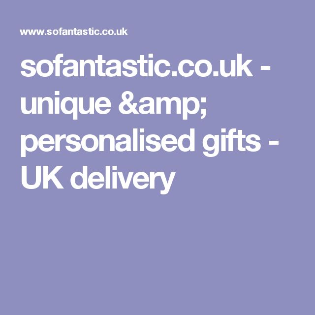 sofantastic.co.uk - unique & personalised gifts - UK delivery