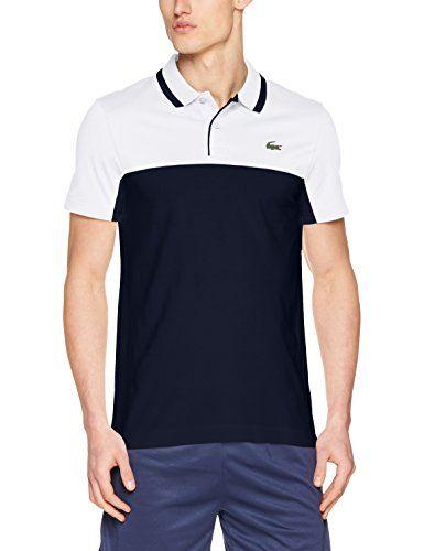 54d503f17145d6 Lacoste Men s Polo Shirt 3 cm Green crocodile transfer Contrast two-colour  design 58% Cotton