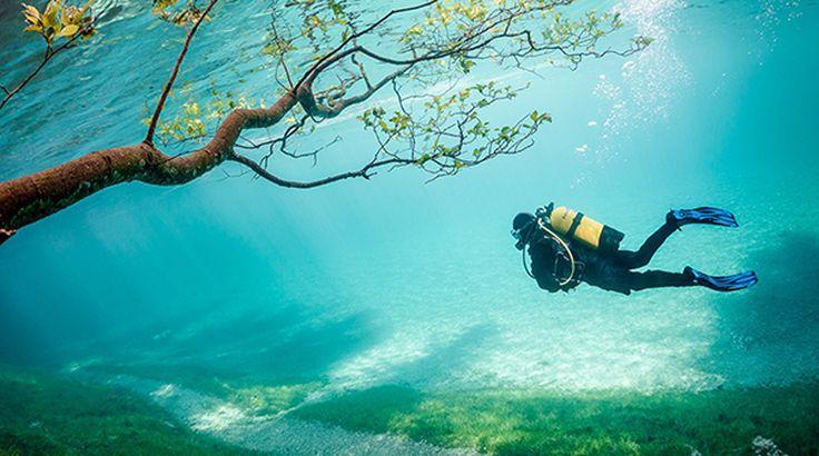 El Grüner See, o Lago verde, entra dentro de lugares idóneos para el buceo dentro de Austria. La razón de su fama reside sobre todo en el increíble color verde esmeralda y transparente de sus aguas, que cada año aparecen con los deshielos. | Lavozdelmuro