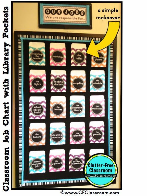 Classroom Job Chart Makeover and Management Tips {Classroom Design Photos, Set Up Pictures & Ideas, Organization & Management}