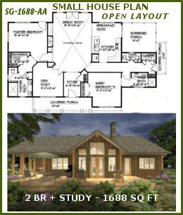 craftsman house plans open floor plan. Small economical cost saving 1700 sf craftsman cabin house plan with  porches open floor split bedrooms ideal for down sizing empty nesters 37 best Sophisticated Rustic House Plans images on Pinterest
