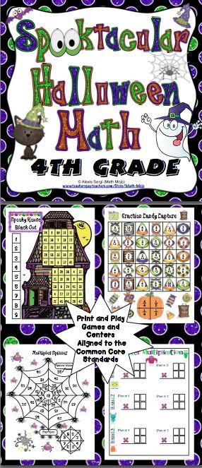 halloween math activities 4th grade - Online Halloween Math Games