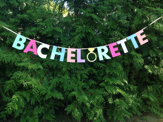 customizing this sign to be in all-pink. BACHELORETTE BANNER pink gold mint. Bachelorette by #MagnoliaOlive