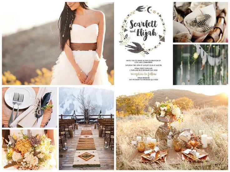 Ideas for your Tribal Boho wedding:   https://www.etsy.com/au/listing/467320123/tribal-boho-arrow-bird-printable-diy?ref=listing-shop-header-0