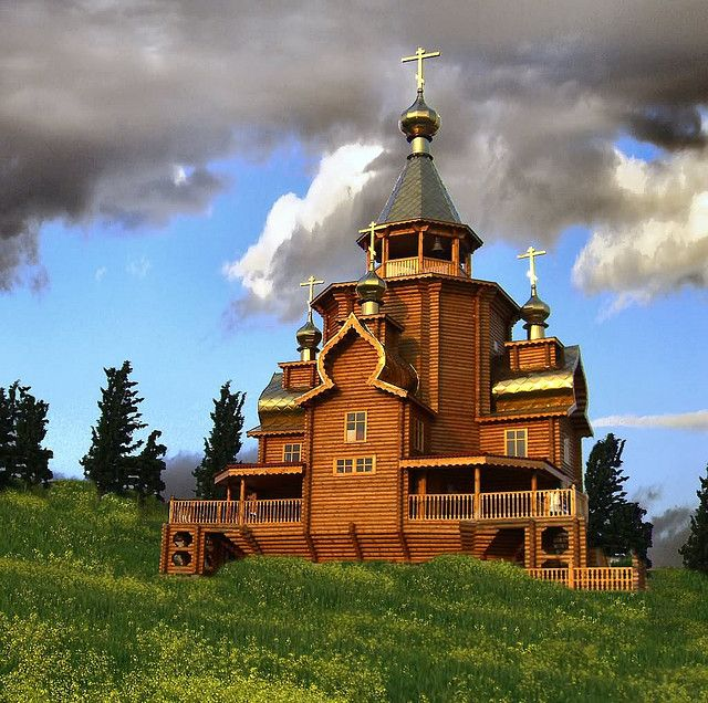 Russian Churches | Russian Wood Church