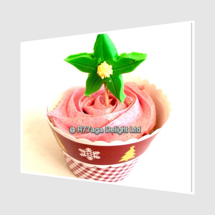 Vanilla cupcake topped with wild strawberries buttercream. http://www.twitter.com/R77agaDelight