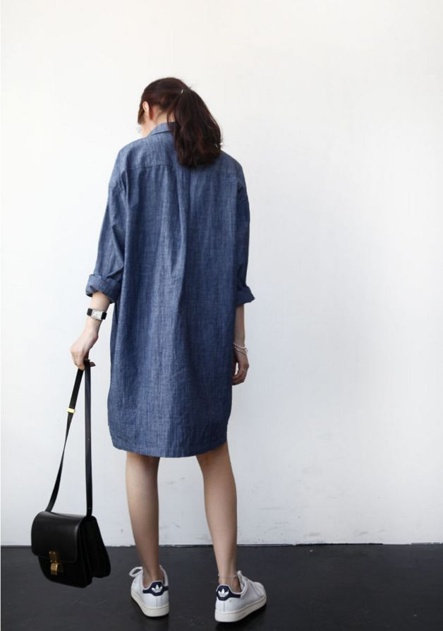 платье-рубашка, минималистичный летний гардероб