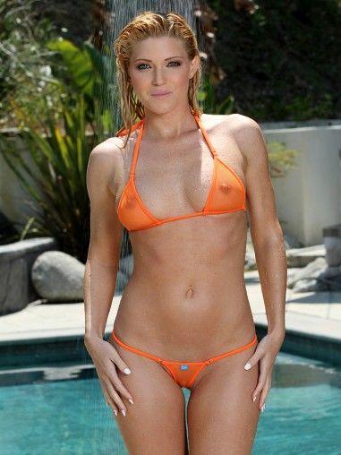 Turns photos of women wearing sheer bikinis consider, that