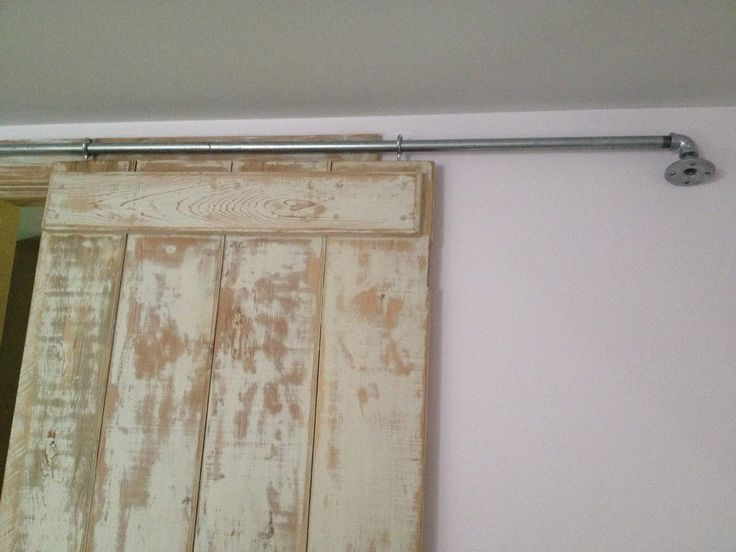 diy sliding barn door using inexpensive hardware it seems everyone wants the sliding barn door look whatu0027s not to love do a litt - Sliding Closet Doors