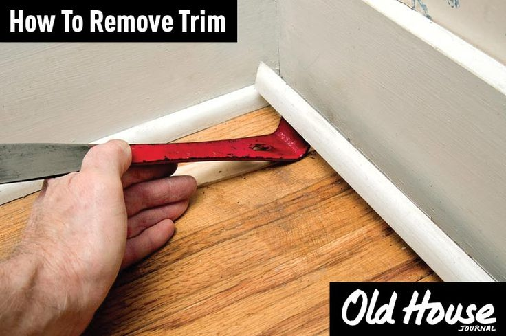 Learn how to remove trim without damaging it (Photo: Andy Olenick) | Old House Journal DIY Month—30 days of projects sponsored by www.timberlane.com