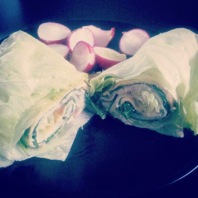 #egg #omelette #spinach #ham #salad #twist #healthy #cleanfood #paleo #glutenfree #paleobreakfast