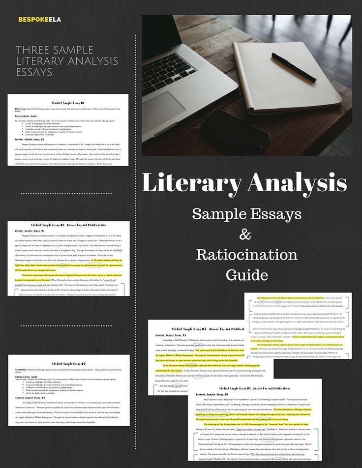 Literary Analysis Essay Ratiocination Activity with Sample