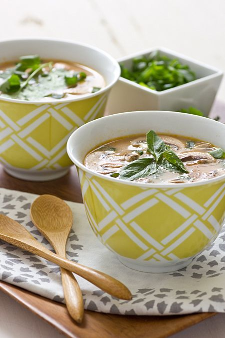Enjoy the savory, coconutty spice of this vegan Thai Red Curry Soup.
