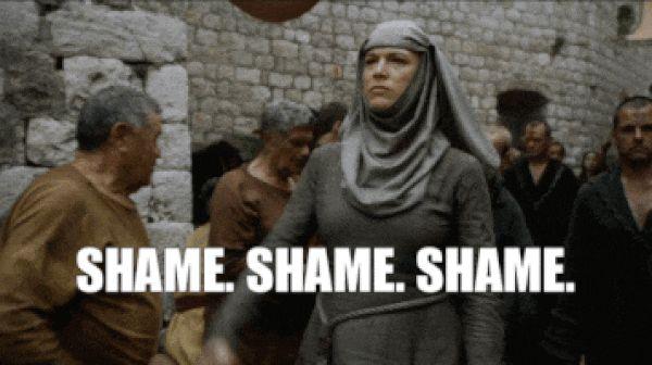 shame, shame shame shame, got, game of theones animated GIF | PopKey