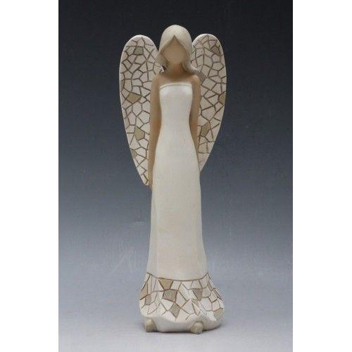 Andělé, panenky   Andělka stojící větší   dekorace-Zemas, dekorace pro váš důmy byt či zahradu