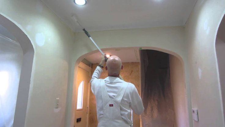 How to Paint a Popcorn Stucco Ceiling - Home Painters - YouTube