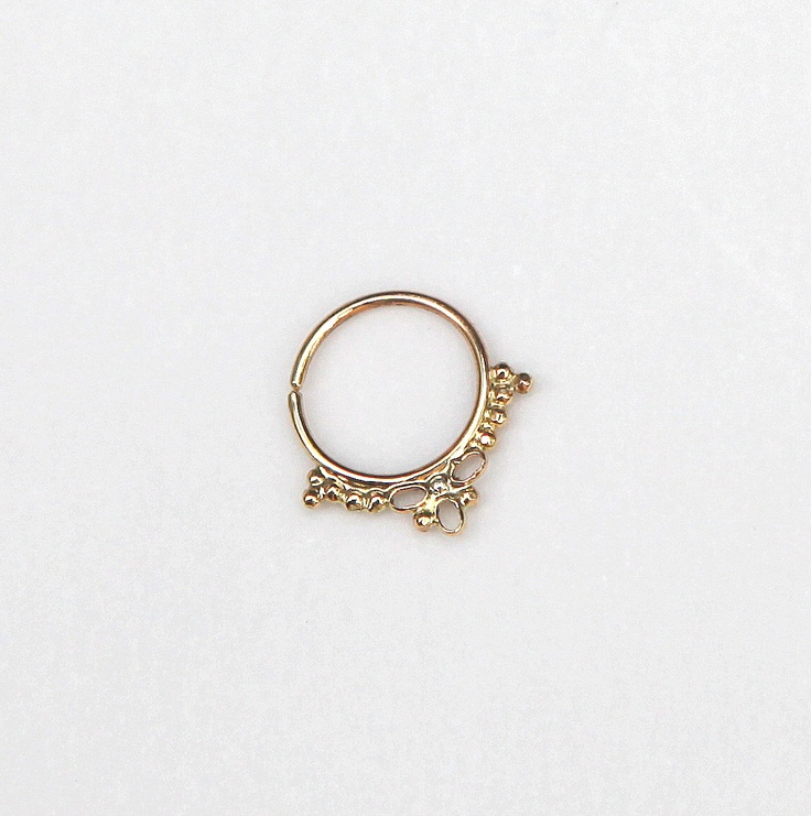 septum jewelry Gold nose ring 14 karat yellow gold by studiolil