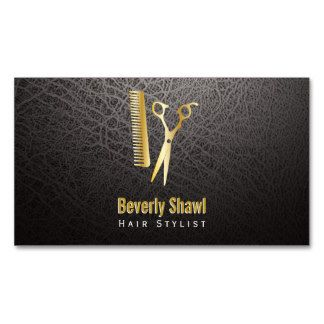 Stylist / Golden Shears & Comb Double-Sided Standard Business Cards (Pack Of 100) #modernsalon #salon #businesscards #ilovemyjob #springfever #citylife #behindthechair #entrepreneur #shopowner #businessowner #businesswomen #beauty #womensfashion #haircuts #barber #passion #workflow #talent #mastery #hairstylistlife #salonowner #leather #professional #shears #scissors #goldenshears #goldencomb #fancybusinesscards #professional