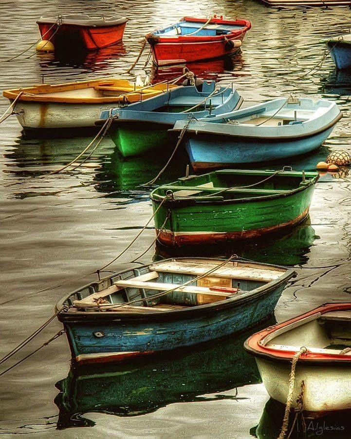 peinture, bateaux, couleurs,
