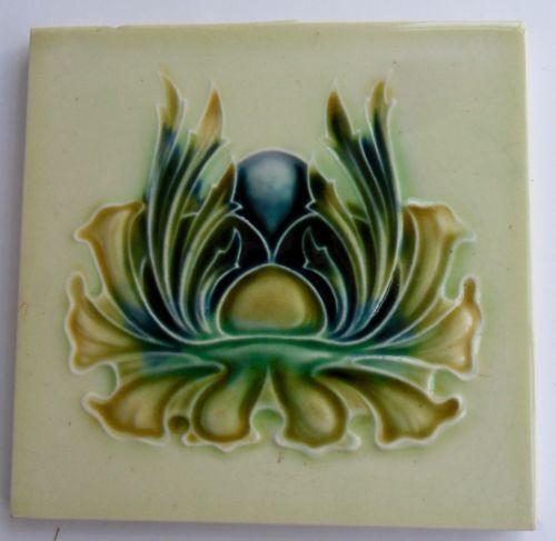 Original-English-Art-Nouveau-tile-c1905-8-6-034-x6-034-Tile-368