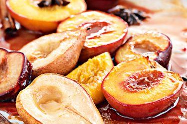 Roasted Honey-Glazed Fruits