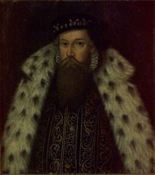 Courtesy of Skokloster Castle //   Porträtt av Konung Erik XIV av Sverige, 1533-1577. Oljemålning på duk. 1600-tal.  Portrait of King Erik XIV of Sweden, 1533-1577. Oil on canvas. 1500th century.  (http://emuseumplus.lsh.se/eMuseumPlus?service=ExternalInterface&module=collection&objectId=21919&viewType=detailView)