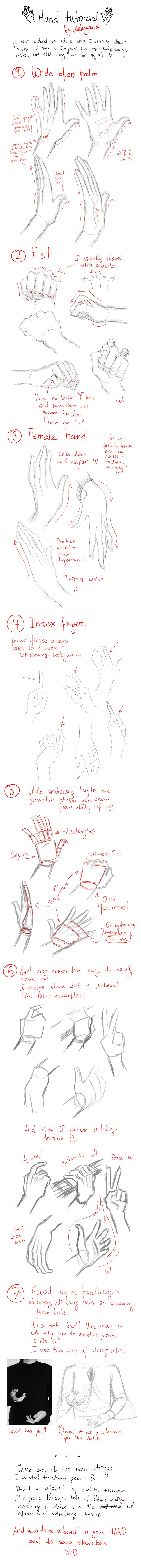 Hands tutorial by Makoyana.deviantart.com on @deviantART