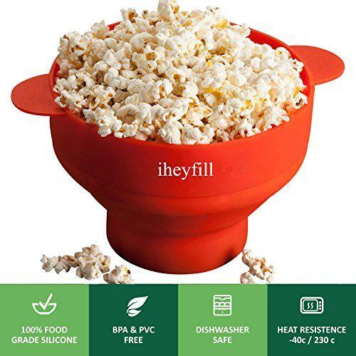 Der Popcornmaker für die Mikrowelle ist ein Muss für alle Freunde der beliebten Kino-Knabberei. Eine einfache Handhabung und eine günstige Zubereitung zeichnen dieses tolle Küchen-Gimmick aus.