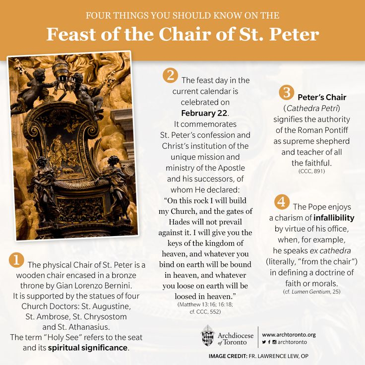 Feast of the Chair of St. Peter 4 things you should know