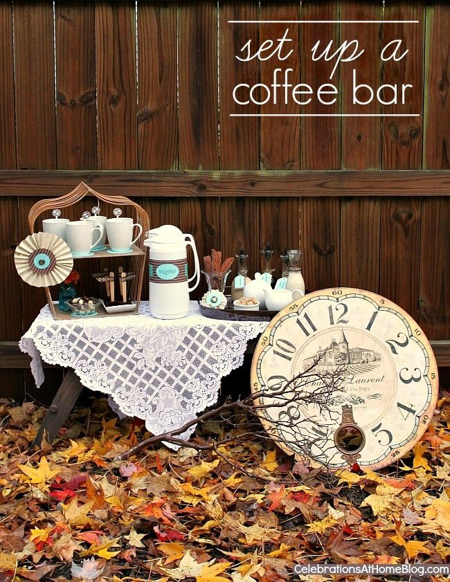 entertaining how to set up a coffee bar wedding