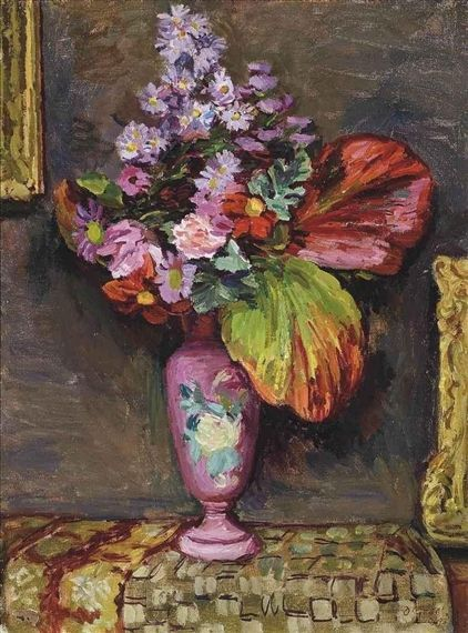 """Duncan Grant """"Autumn Flowers"""", 1943 (Great Britain, Bloomsbury Group, 20th cent.)"""
