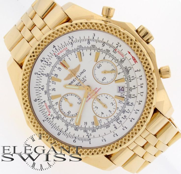 Breitling Bentley Motors Special Edition Yellow Gold Chrono Mens Watch K25362 | eBay