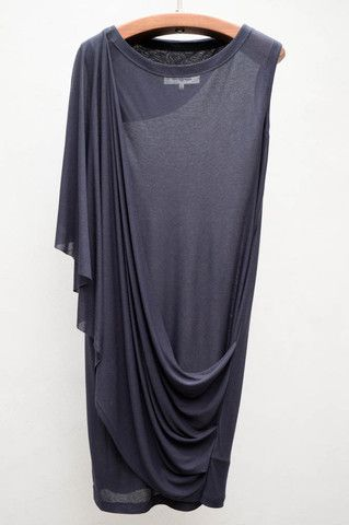 MM6 Maison Martin Margiela Vulcan Drape Jersey Dress $285