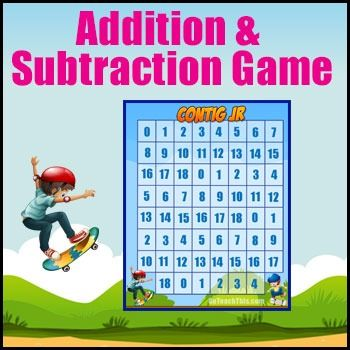 FREE Math Games - Addition & Subtraction Games - Contig Jr.  is a Math game that focuses on mental Addition & Subtraction skills.