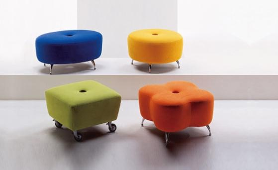 You can make these.Daisies Ottoman, Classroom Seats, Benches, Kids Spaces, Contemporary Furniture, Kids Room, Room Ideas, Baby Room, Flower Ottoman