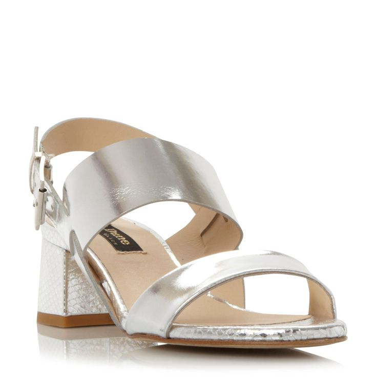 Dune Black Jove two band flared heels, Silver · Sandals OnlineShoes Online Ladies ...