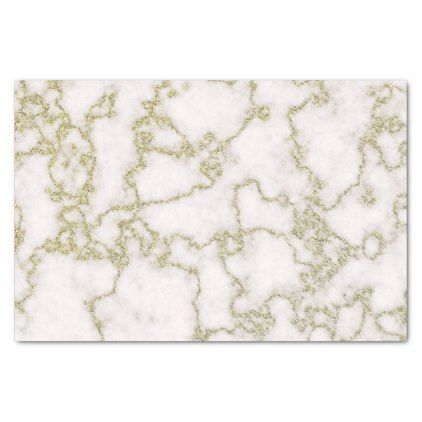 Elegant White And Gold Marble Tissue Paper Craft Supplies Diy Custom Design Supply Special