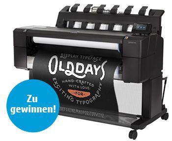 HP DesignJet T1530ps zu gewinnen!!! *HP sucht den ältesten Großformatdrucker!  | Plotline OHG - Ihr Kompetenz-Center für Plotter, Drucker, Kopierer und Zubehör