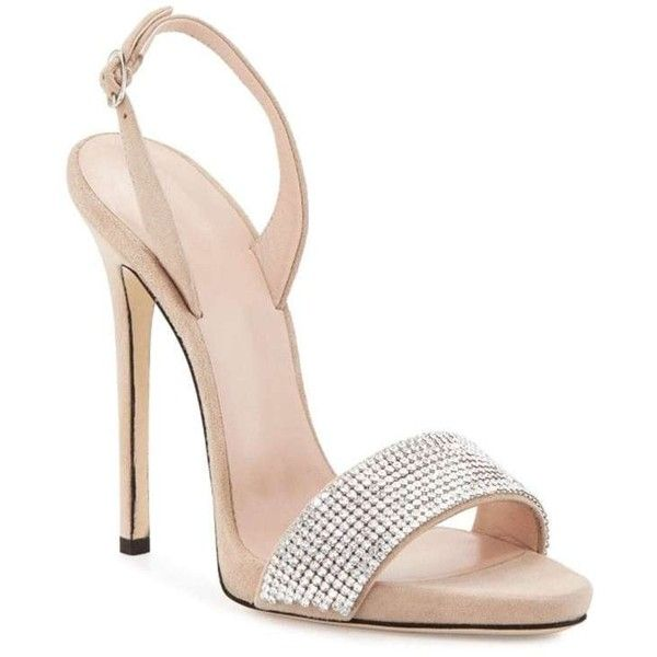 Beige 37 Women Shoes Buckle Strap Dress Stiletto Heel Sparkling... (140 BRL) ❤ liked on Polyvore featuring shoes, sandals, heels, beige stilettos, heels stilettos, beige shoes, glitter sandals and stilettos shoes