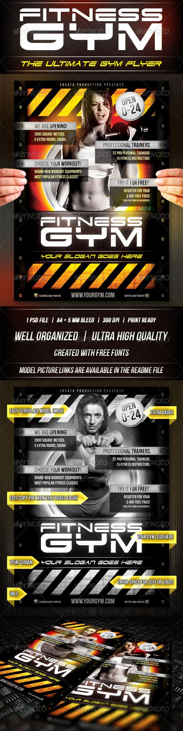17 best images about gym advertisement business fitness gym flyer template