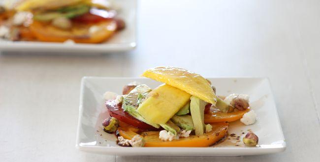 The 150-Calorie Avocado, Mango, and Pistachio Salad