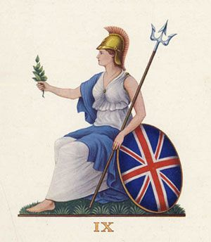 """When Britain first, at heaven's command, Arose from out the azure main, This was the charter of the land, And guardian angels sung this strain— """"Rule, Britannia, rule the waves; Britons never will be slaves.Rule, Britannia, rule the waves; Britons never will be slaves"""""""
