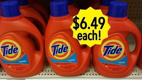 NEW COUPON! Tide Detergent 92 oz. Only $6.49 at Kroger With Catalina Offer! http://heresyoursavings.com/new-coupon-tide-detergent-92-oz-6-49-kroger-catalina-offer/