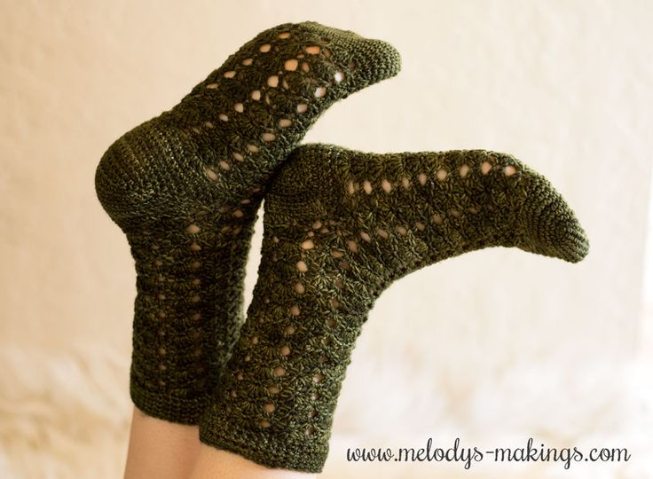 Free Crochet Sock Pattern!  These lacy socks are so gorgeous....and just as good as knit socks!  Take the challenge and make a pair yourself.