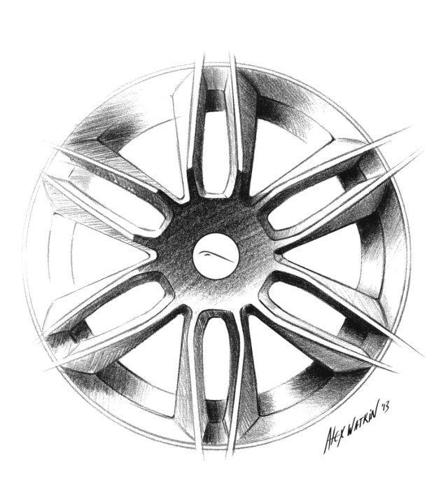 Jaguar F Type Coupe Wheel Design Sketch Jaguar F Type Coupe Wheel Design Sketch Jaguar Type Coupe Autos Para Dibujar Dibujos De Autos Cosas De Coche
