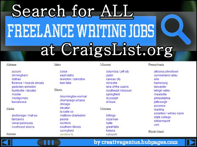 writing jobs on the internet